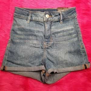 NWT High Waisted Cuffed Blue Jean Shorts - Size 4